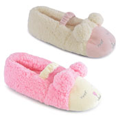 Girls Sleeping Sheep Fleece Slippers