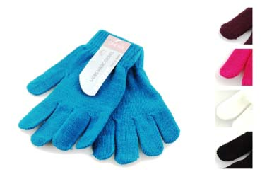 Ladies Coloured Magic Gloves