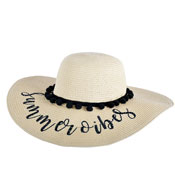 Ladies Summer Vibes Wide Brim Hat