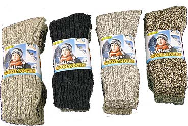 Ladies Wool Socks 4-7