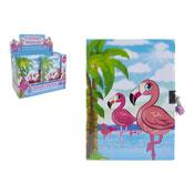 Flamingo Design A5 Lock Up Notebook
