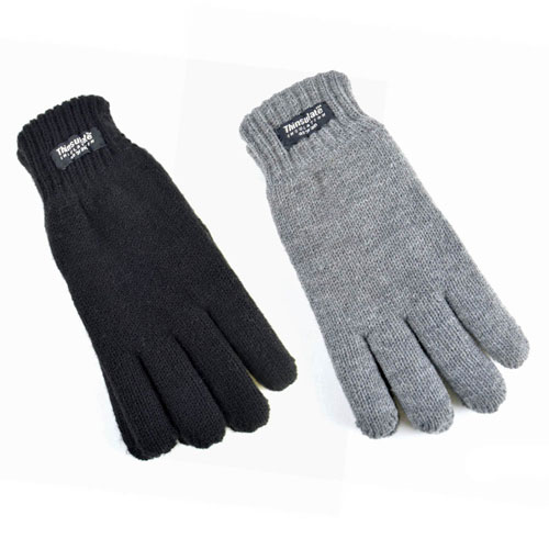 Kids Thinsulate Lining Gloves Black/Grey