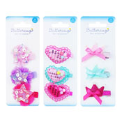 Girls Assorted Shapes Hair Clips