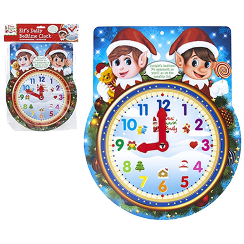 Christmas Elf Bed Time Clock