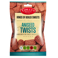 Aniseed Twists Crillys Sweets 130g Bag