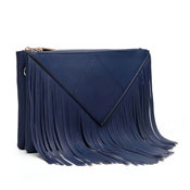 Caroline Fringe Detail Crossbody Bag Navy Blue