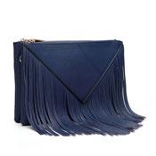 Caroline Fringe Detail Crossbody Bag Navy Blue