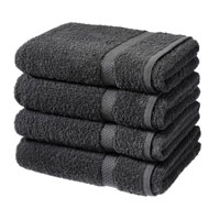 Luxury Cotton Bath Sheet Black