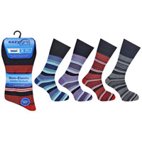 Mens Eazy Grip Non Elastic Socks Stripe