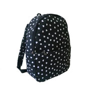 Single Pocket Heart Backpack Black