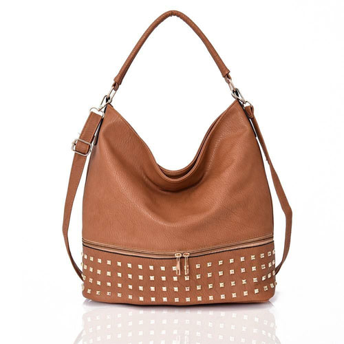 Adette Stud Bag Light Tan