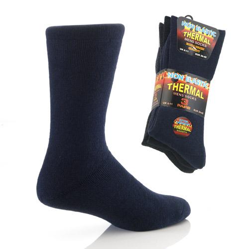 Mens Non Elastic Thermal Socks