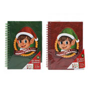 Christmas Elf Hardback Spiral Notebook