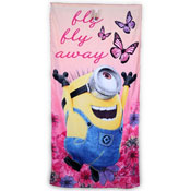 Girls Minions Fly Away Beach Towels