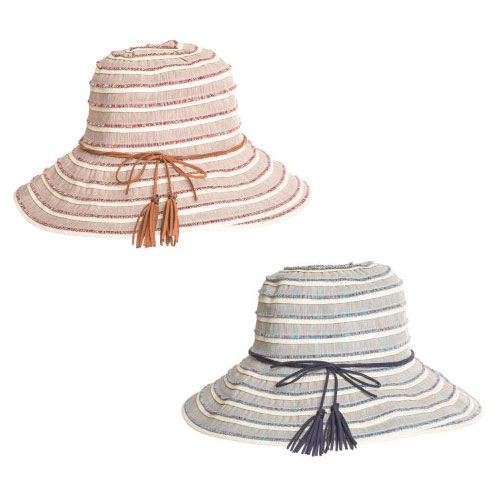 Ladies Coloured Summer Hat With Tassel Band