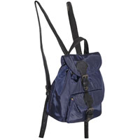 Handy Mini Backpack With Front Pocket Navy Blue