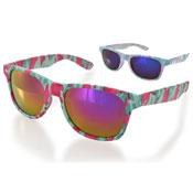 Ladies Plastic Camo Design Sunglasses