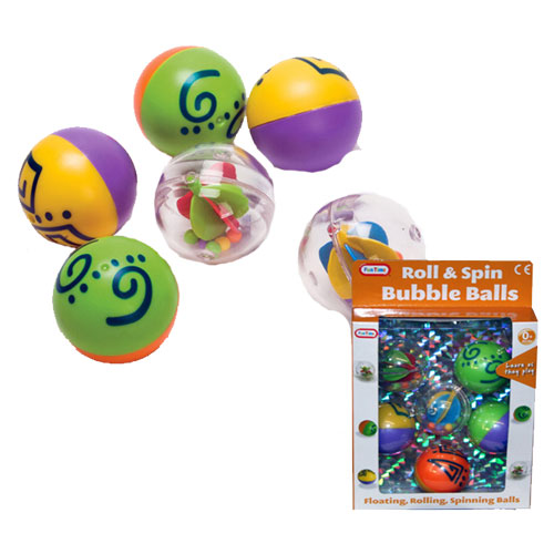 Spin & Roll Bubble Balls