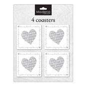 Heart 4 Pack Coasters