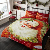 Santa Traditional Christmas Duvet Set