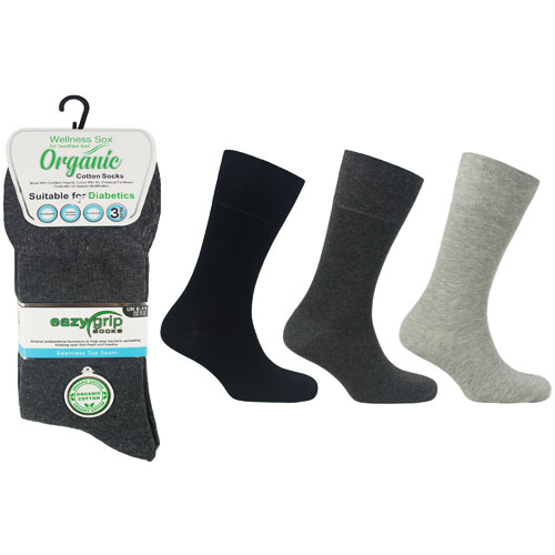 Mens Wellness Organic Cotton Socks London
