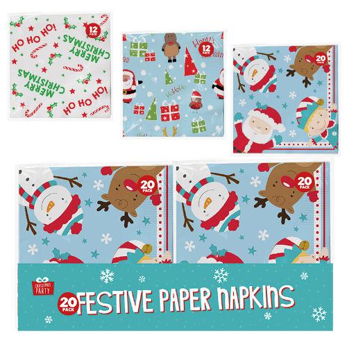 Christmas Paper Napkins 24 Pack