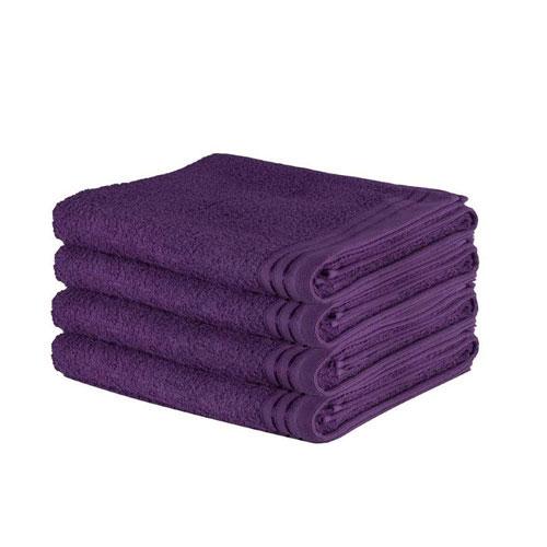 Luxury Wilsford Cotton Bath Sheet Purple