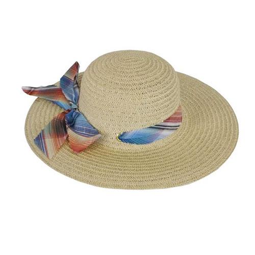 Ladies Best Wide Brim Hat With Ribbon