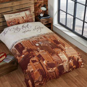 Urban Unique City That Never Sleeps Duvet Set