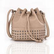 Brienne Stud Crossbody Bag Beige