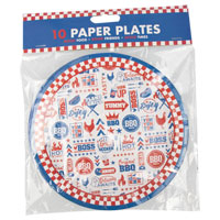 Small BBQ Paper Plates 10 Pack