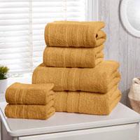 Natural Cotton Camden Bath Towels Ochre