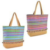 Striped Woven Bag