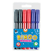 Lucky Bingo Markers 6 Pack Assorted