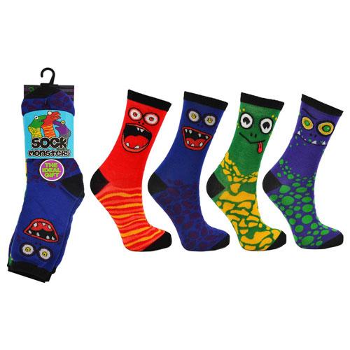 Sock Monsters Childrens Novelty Socks