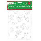 Colour Your Own Christmas Table Cloth