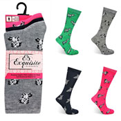Ladies Exquisite Computer Socks Cute Dogs