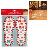 Santa Foot Steps Floor Stickers
