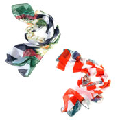 Fashion Summer Scarf Stripe With Flower Design