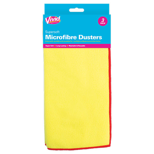 Microfibre Dusters 3 Pack