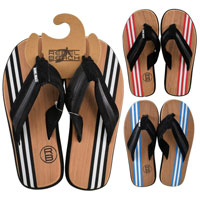 Eva Wood Look Flip Flops Adults Large