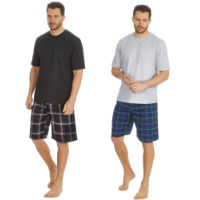 Mens Jersey T Shirt And Tartan Shorts Set