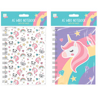 Kids A5 Rainbow Unicorn Notebook