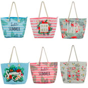 Tropical Summer Design Slogan Beach Bag