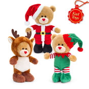 30cm Christmas Pipp The Bear With Sound