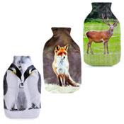 Arctic Fox Reindeer & Penguin Hot Water Bottle