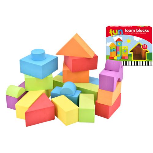 22 Piece EVA Fun Foam Blocks