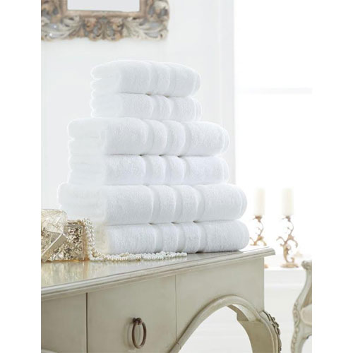 Supreme Cotton Hand Towels White