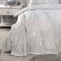 Scattered Stars Comfy Fleece Throw Silver