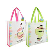 Flamingo/Cactus Reusable Shopping Bag